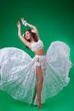 Women in carnival dresses Stock Photos