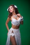 Women in carnival dresses Stock Photo