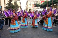 Women at Carnival Festival, Valletta, Malta Stock Photos