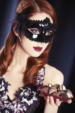 Women in carnival mask. Stock Images