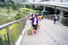 Women carry fruits Stock Photos