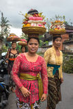 Women carrying offerings for wedding Stock Photography