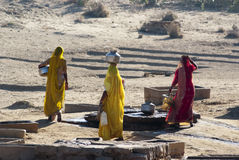Women carrying water in Rajasthan, India Stock Images