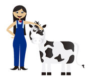 Women cartoon farmer Stock Image