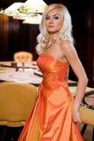 Women in casino. Young europian women in casino Royalty Free Stock Image