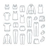 Women casual clothes for gym fitness training royalty free stock image