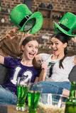 Women celebrating st patricks day Royalty Free Stock Images