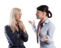 Women chatting each others Stock Photo
