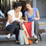 Women checking the shopping Stock Image