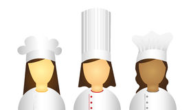 Women chef icons Royalty Free Stock Photos