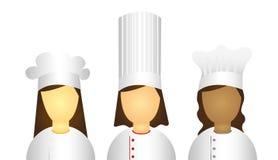 Women chef icons Royalty Free Stock Photos