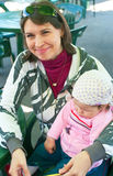 Women and child in cafe Stock Photos