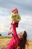 Women with child outdoor Royalty Free Stock Images