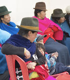 Women and children in the Andes Mountains Stock Photography
