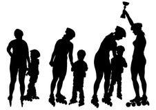 Women and children skates Royalty Free Stock Image