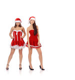 Women in Christmas costume Royalty Free Stock Photo