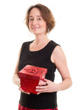 Women with Christmas gift Stock Photography