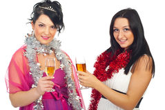 Women at Christmas party stock image