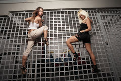 Women climbing Royalty Free Stock Photography