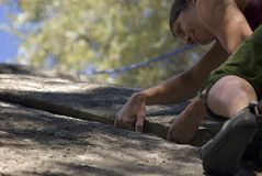 Women climbing in Yosemite 3 Royalty Free Stock Images