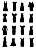 Women Cloth Icons Set stock images