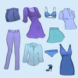 Women clothes Royalty Free Stock Photo