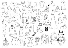 Women clothes and accessories Royalty Free Stock Photo