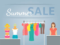 Women clothes collection in shop interior Royalty Free Stock Photo