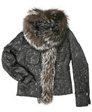 Women clothes with fur Stock Photos