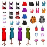 Women clothes isolated on white background Royalty Free Stock Images