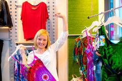 Women in the clothes shop Royalty Free Stock Photo