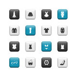Women clothing buttons Royalty Free Stock Photography