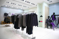 Women clothing department Stock Images
