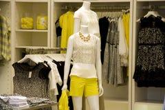 Stylish woman clothing fashion store stock photography