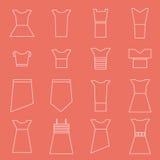 Women clothing icons set Stock Photo