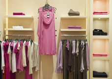 Women clothing shop Royalty Free Stock Photography