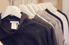 Women clothing store stock image
