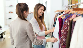 Women in clothing store Royalty Free Stock Images
