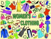 Women clothing vector illustration Stock Images