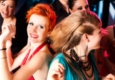 Women in club or disco dancing. And have lots of fun Royalty Free Stock Photo
