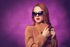 Women in coat Royalty Free Stock Images