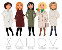 Women in coats Royalty Free Stock Image