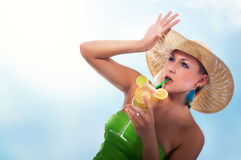 Women with cocktail Stock Photos