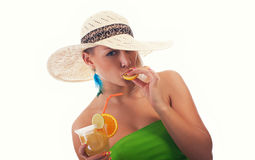 Women with cocktail Royalty Free Stock Photo