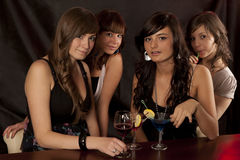 Women with coctail Royalty Free Stock Photo