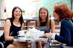 Women in coffee house Stock Image