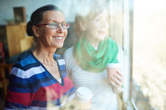 Women with coffee Stock Photo