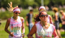 Women at the Color Run in Zwolle Stock Images
