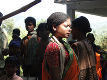 Women in colorful saris Stock Photos