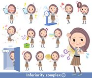 Women_complex largo del pelo libre illustration